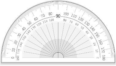 Transferidor: objeto utilizado para medir ângulos