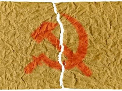 A União Soviética entrou em colapso na passagem da década de 1980 para a década de 1990