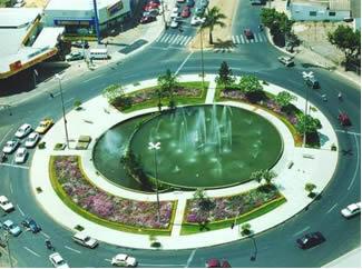 Praça no formato circular