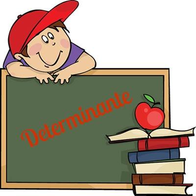 O determinante é representado pelos adjuntos adnominais