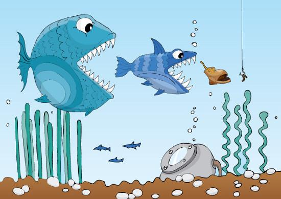 Na cadeia alimentar, observamos a relação de alimentação existente entre os organismos