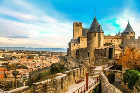 O castelo de Carcassonne, sul da França, foi um dos principais pontos de defesa dos nobres cátaros durante a Cruzada Albigense