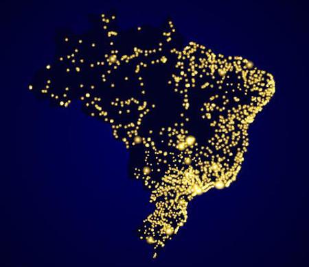A população brasileira não se distribui igualmente por todo o território