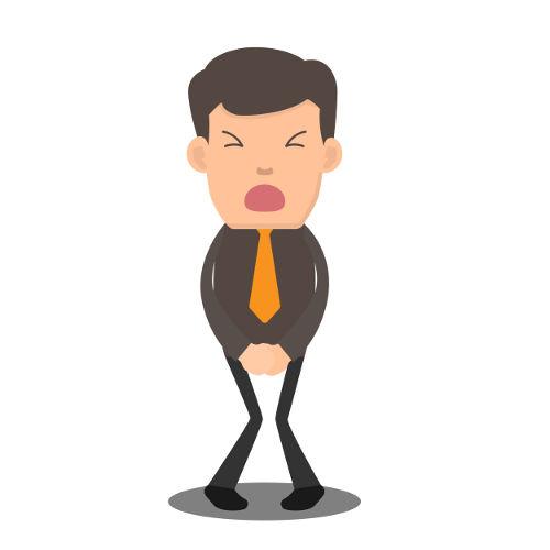 A infecção urinária  causa dor ao urinar e na região da bexiga.