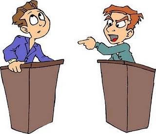 A característica principal do debate é a oralidade