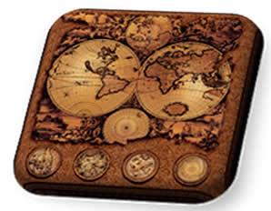 A cartografia existe há muito tempo. Esse mapa, por exemplo, é muito antigo