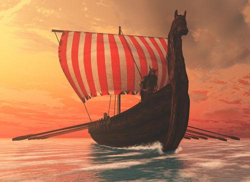Assim como os fenícios, na Idade Antiga, os vikings foram grandes navegadores, na Idade Média.