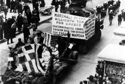 O Plano Marshall forneceu apoio econômico a muitas das nações afetadas pela Segunda Guerra