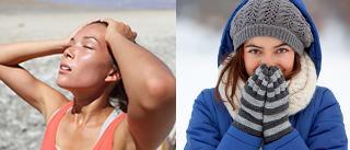 As formas de clima e de tempo variam de acordo com os lugares