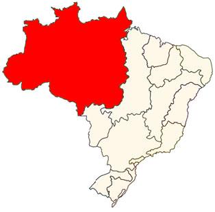 Localização da Bacia Amazônica no território brasileiro
