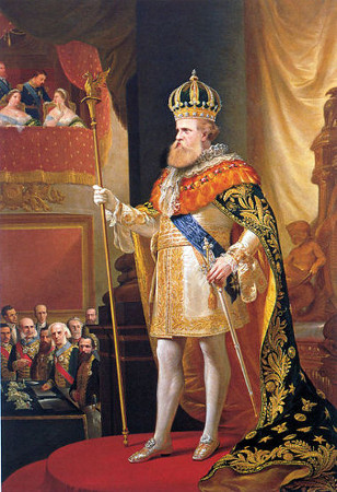 Dom Pedro II, em trajes imperiais