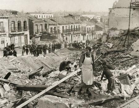 Cidade de Madri após ser conquistada pelas tropas conservadoras do Movimento Nacional, em foto de 1939.