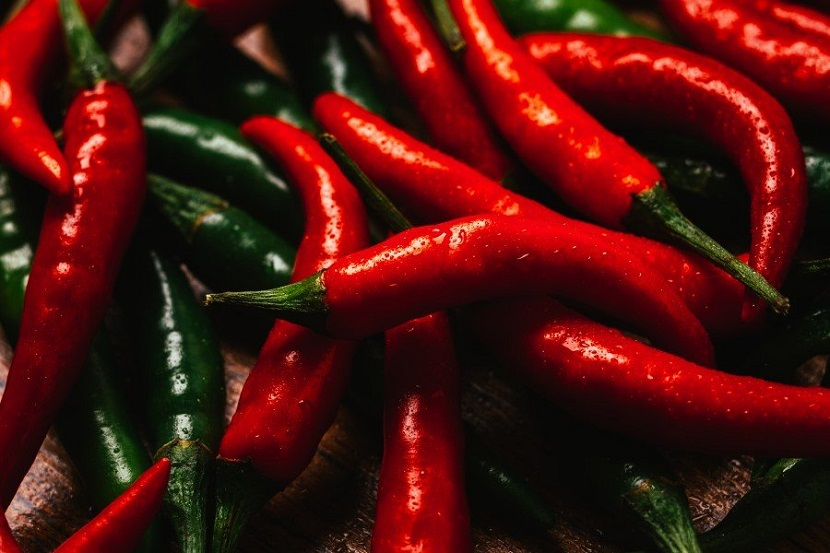A pimenta é muito utilizada na culinária