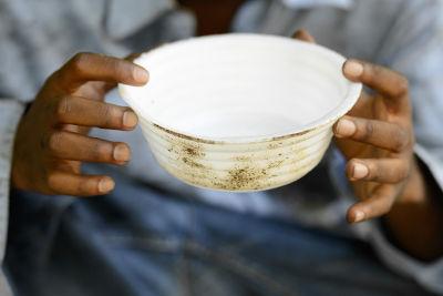 A falta de alimento adequado pode levar à desnutrição