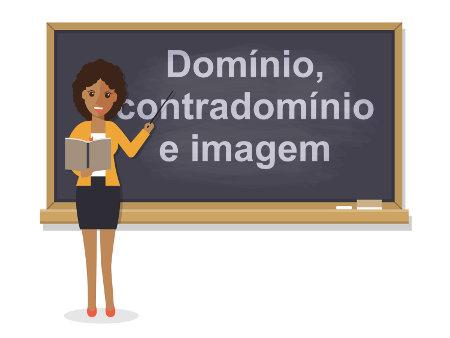 Domínio, contradomínio e imagem são conjuntos que fazem parte da definição de uma função