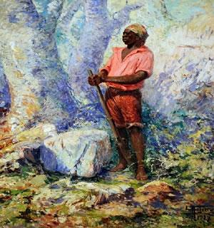 Zumbi dos Palmares retratado em tela de Antônio Parreiras (1860 -1937)