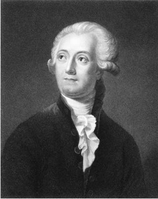 Ilustração de Antoine Laurent de Lavoisier (1743-1794)
