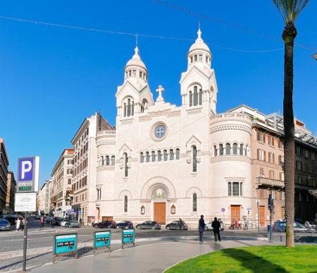 Igreja valdense localizada em Roma, na Itália *