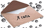 A carta permite a correspondência entre as pessoas
