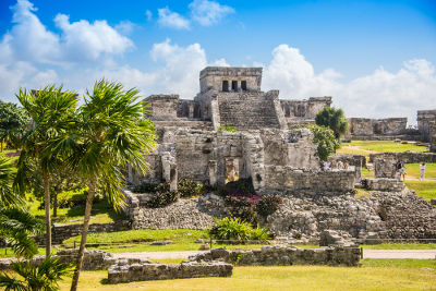 Ruínas de um templo maia, na Península de Yucatã, México