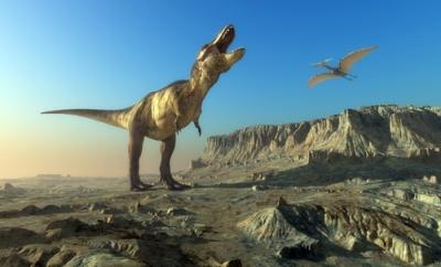Os dinossauros surgiram no período Triássico da Era Mesozoica