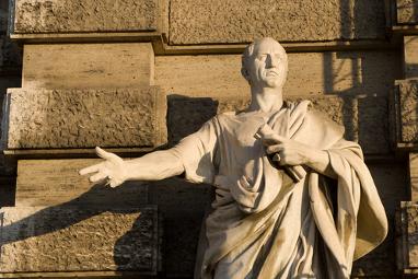 Estátua de Marco Túlio Cícero (106 a.C. - 43 a.C.), orador, político e pretor romano