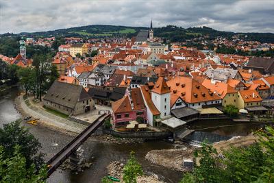 Cesky Krumlov, antigo burgo medieval, situado na atual República Tcheca