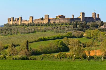 Cidade medieval de Monteriggioni, na Itália