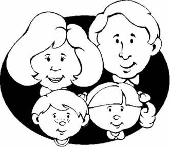 Uma família é formada por  pessoas descendentes