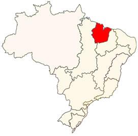 Localização da bacia Atlântico Nordeste Ocidental no mapa do Brasil