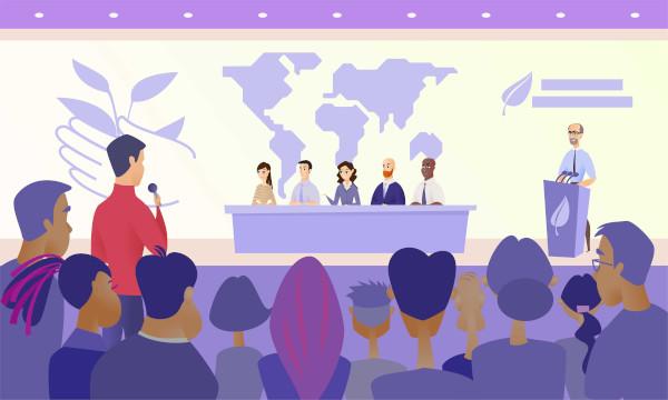 As conferências ambientais representam encontros nos quais líderes mundiais discutem os principais problemas relacionados ao meio ambiente.