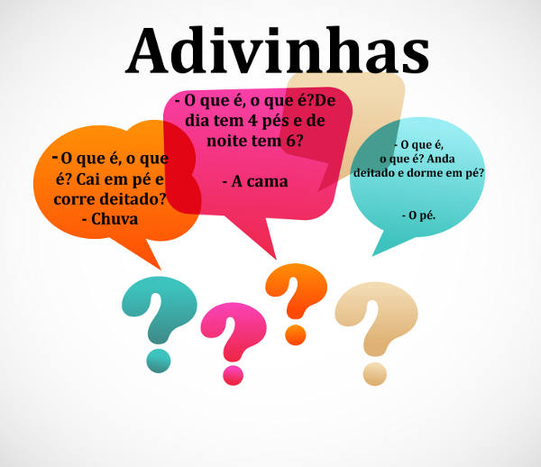 A adivinha é um gênero textual composto pelo par pergunta-resposta
