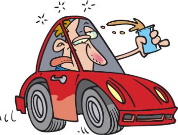 Pessoas que dirigem embriagadas frequentemente são vítimas de acidentes
