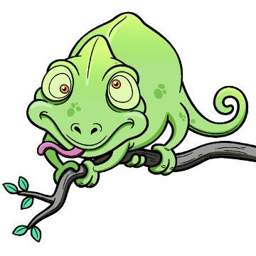 O camaleão apresenta diversas características interessantes, entre elas a capacidade de mover cada olho em uma direção