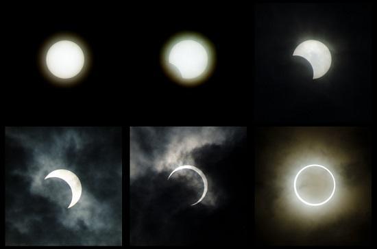 Sequência de um eclipse lunar