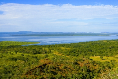 Vista do bioma do Pantanal, um dos mais ricos em biodiversidade.