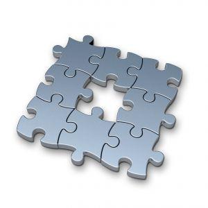 Peças de quebra-cabeça: partes de um todo