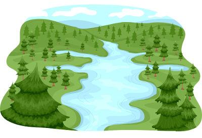 Exemplo de uma bacia hidrográfica