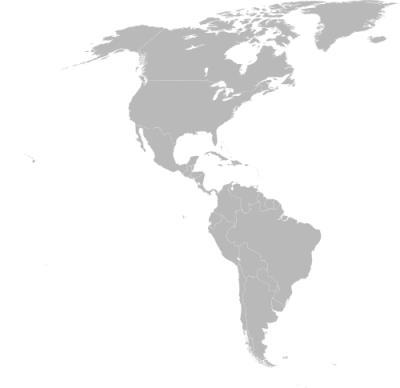 Imagem do espaço do continente americano