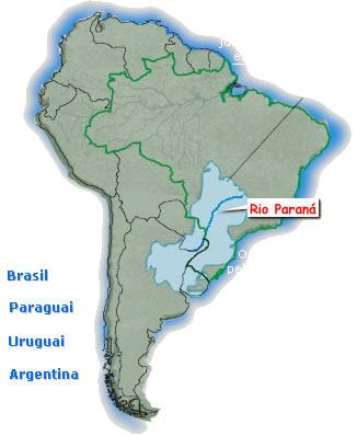 Localização da Bacia Platina