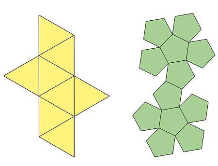 Exemplos de polígonos que apresentam lados proporcionais e ângulos congruentes