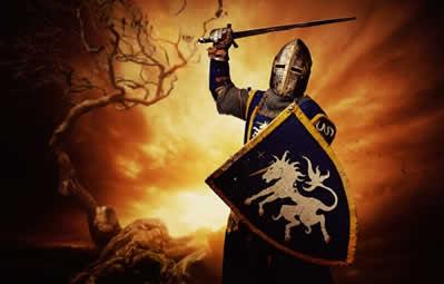 Os cruzados, guerreiros cristãos, deslocaram-se para a Palestina com o objetivo de conquistar a Terra Santa