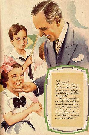 Propaganda oficial do Estado Novo de Vargas em homenagem às crianças
