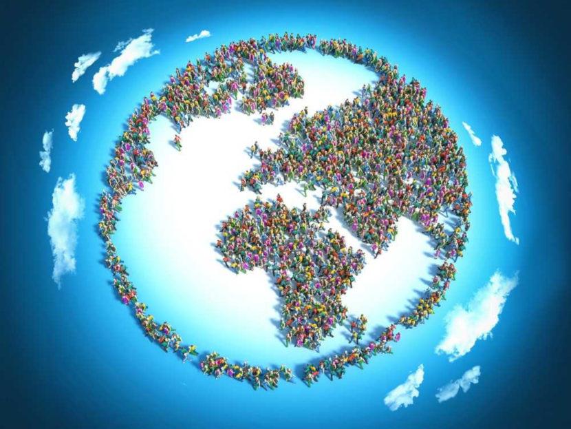 O mundo possui cerca de 7,53 bilhões de habitantes, que se dividem em regiões muito e pouco povoadas.