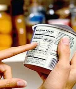 O rótulo contém todas as informações sobre o alimento