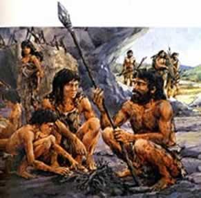 Nossos antepassados tinham que caçar e pescar para conseguir alimentos
