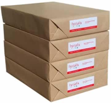 Depois de pronto, o papel é colocado em pacotes e passa a ser chamado de resma