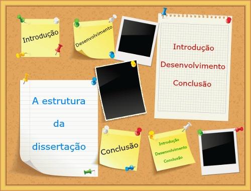Introdução, desenvolvimento e conclusão formam a base estrutural da Dissertação