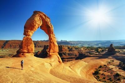 Essa formação rochosa foi esculpida pela ação dos ventos