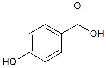 Fórmula estrutura do Ácido p-hidroxibenzoico